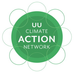"""UU Climate Action Network"" text on top of inter-locking green circles"