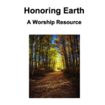 Honoring Earth cover image featuring a tree-lined path