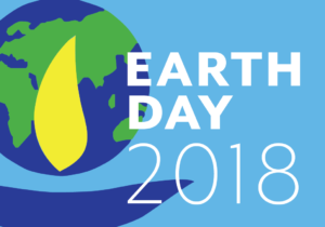 "Image of UUMFE's logo, with text ""Earth Day 2018"""