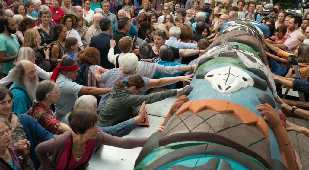 Unitarian Universalists Join Lummi Nation for 2015 Totem Pole Journey