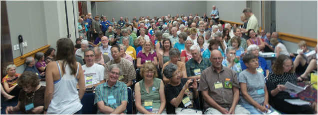 """The audience for our workshop, """"Moving from Capitalism Toward an Ecological Economy"""""""